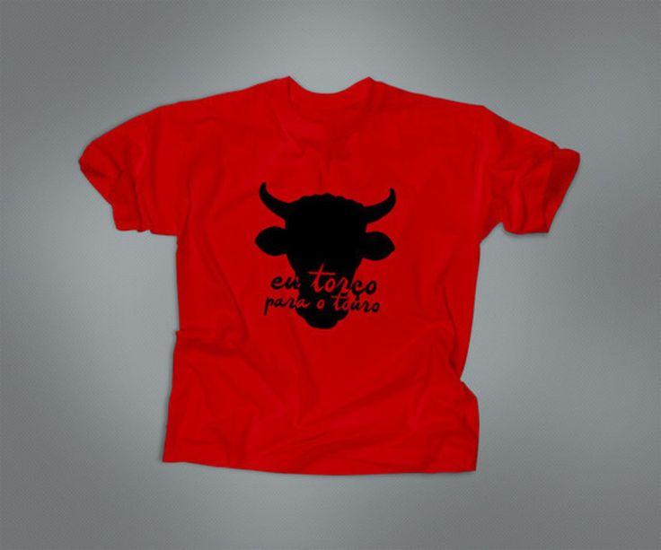 "Camiseta vegana ""TOURO"" (vermelha)"