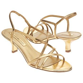 Bandolino Eira gold strappy sandal with low heel.   ???