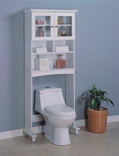 White Wood Bathroom Commode Shelf w/Storage Shelves Glass Door by Coaster Home Furnishings, http://www.amazon.com/dp/B000AT722U/ref=cm_sw_r_pi_dp_5gumrb18B8GTK