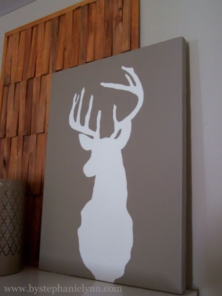 How to Repurpose an old canvas: Silhouette Art, Silhouette Wall, Boys Rooms, Deer Heads, Canvas, House, Wall Art Decor, Diy Deer, Deer Head Silhouette