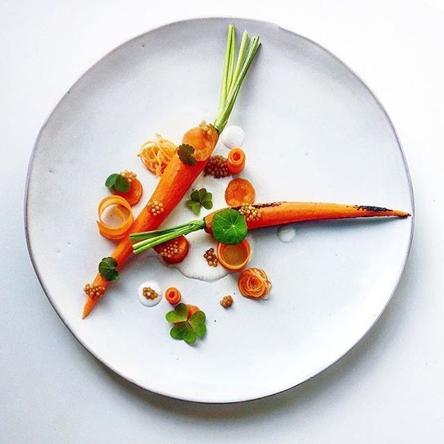 Fermented carrot, charred carrot, mustard seeds & buttermilk. ✅ By - @miirotahti ✅  #ChefsOfInstagram ➡️ Join us at www.ChefsOF.com / link on our profile ⬅️