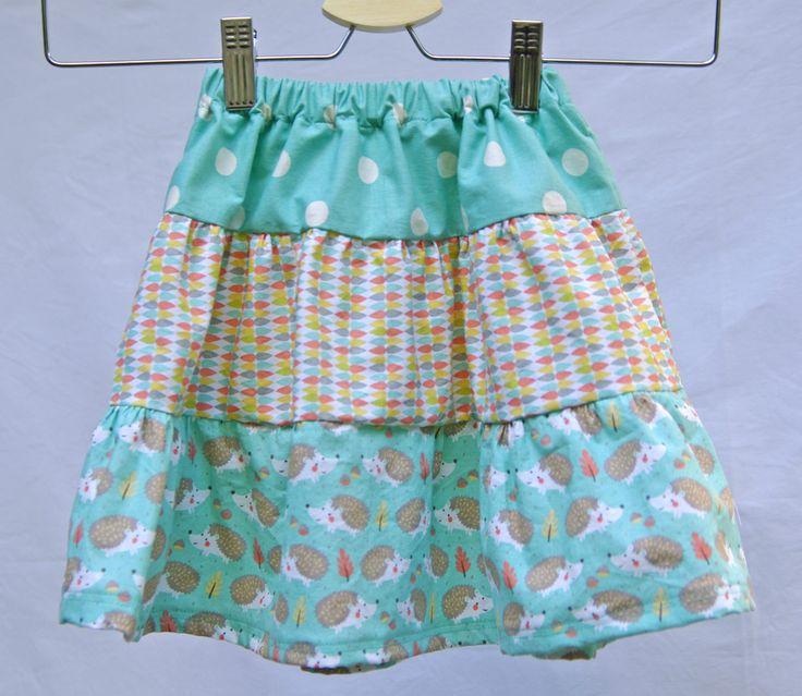 Tiered skirt, cotton skirt, adjustable waist, girls fashion, summer skirt, girls clothing, twirl skirt, handmade skirt, adjustable skirt by CrafterMama on Etsy
