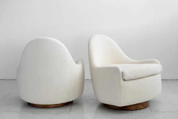 Milo Baughman Style Tub Swivel Chairs Swivel Chair Modern Leather Swivel Chair Dining Room Chair Cushions