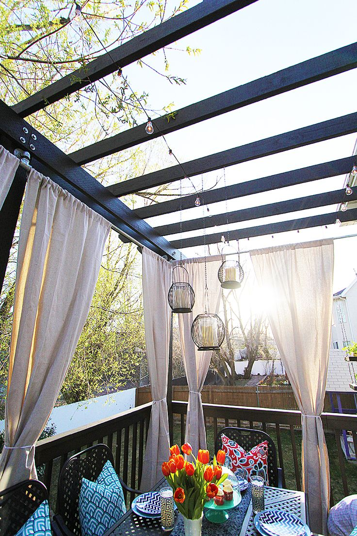 A step by step video tutorial for how to build a pergola, including  incorporating an - 17 Best Ideas About Pergola Curtains On Pinterest Deck Curtains