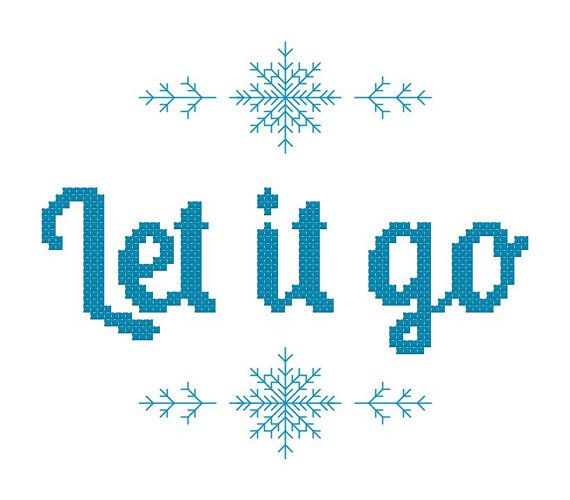 Frozen Cross Stitch Pattern Let it go from by threadsandthings1