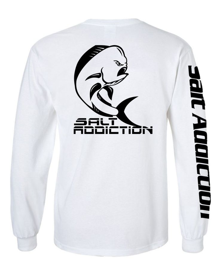 Salt addiction long sleeve saltwater fishing t shirt life for Saltwater fishing clothes