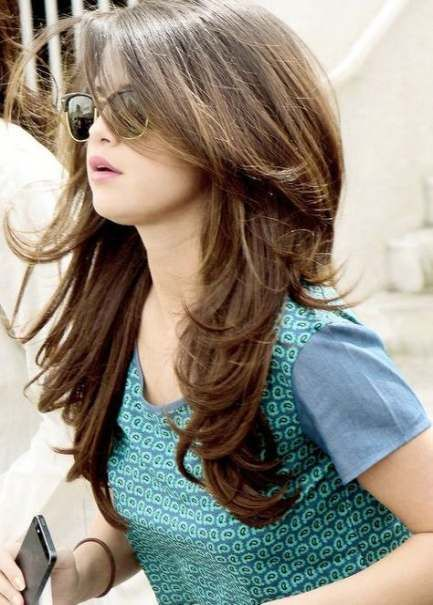 47+ ideas for hairstyles for round faces bangs long layered