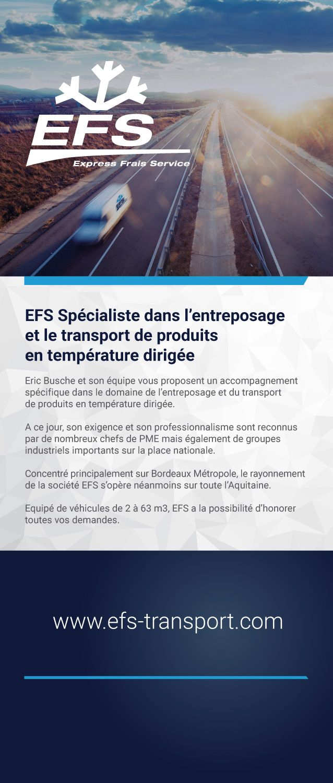 efs transport spécialiste du transport frigorifique à Bordeaux www.efs-transport.com