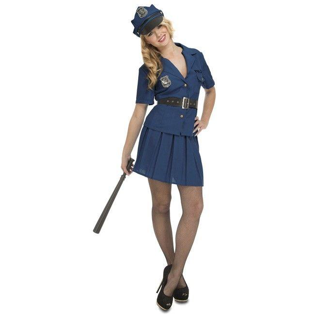 Disfraz de Policía Nueva York para mujer #disfraces #carnaval #novedades2017