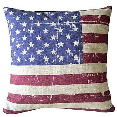 Amerikaanse Gecontracteerde doen Oude Amerikaanse Vlag Sierkussen Cover – EUR € 12.99