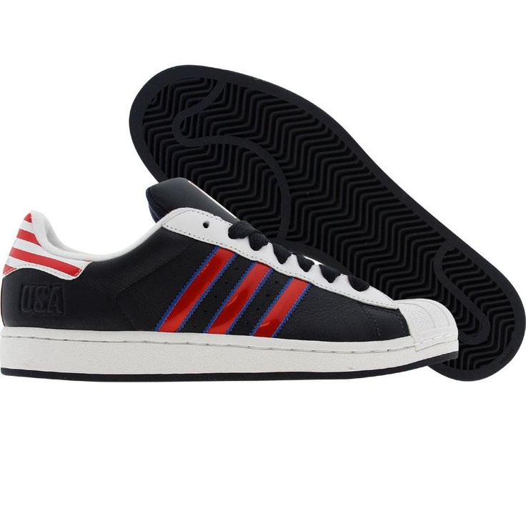 Adidas Superstar II 2 (dark navy / light scarlet / white) 031679 - $69.99