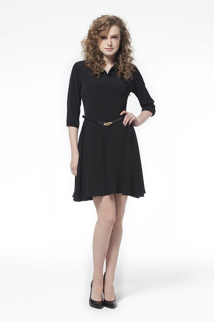 Kemerli Elbise Siyah Kemerli Siyah Elbise Elbise En Trend Elbiseler 79,90 TL