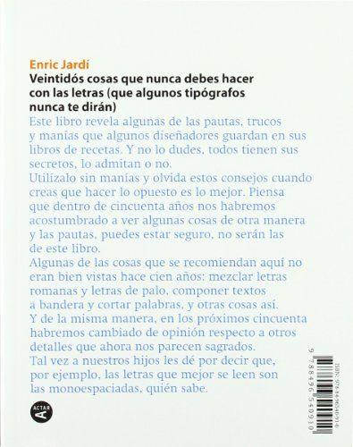 22 consejos sobre tipografía - Enric Jardí