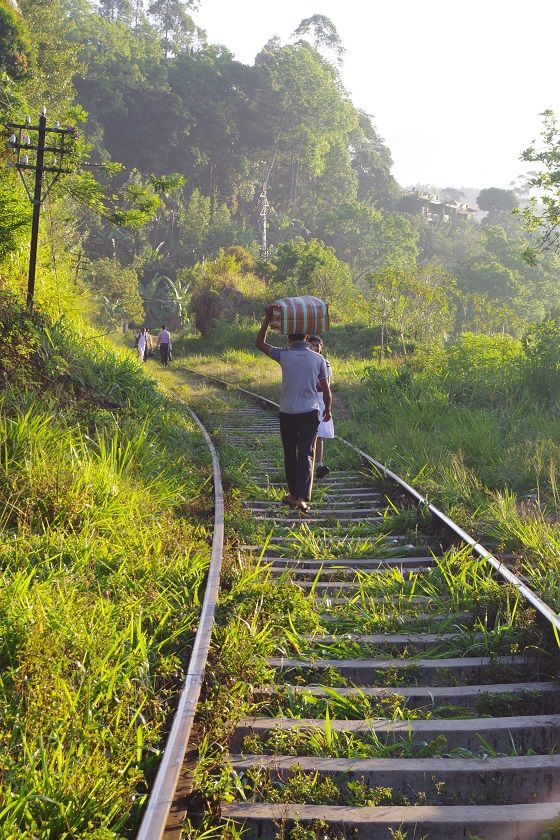 Walking the railway lines, Ella, Sri Lanka
