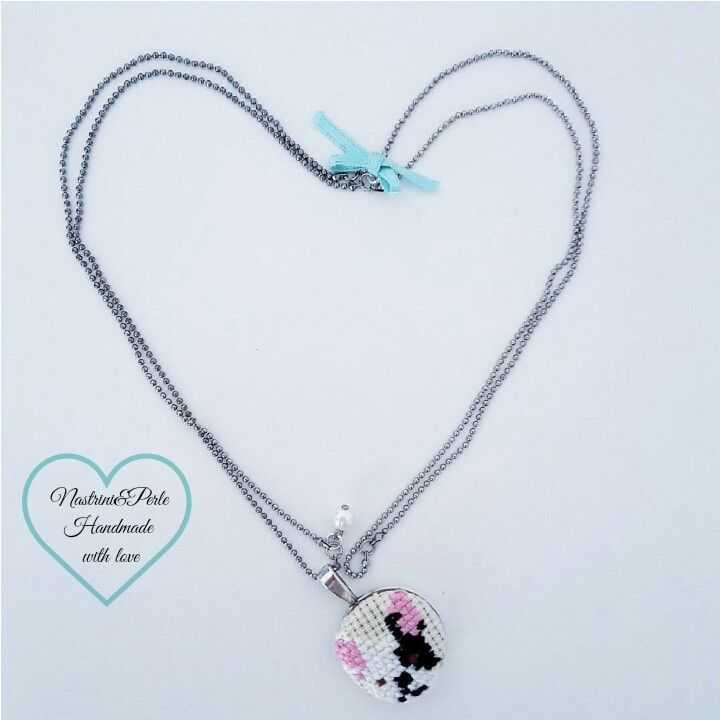 Cross stich necklace