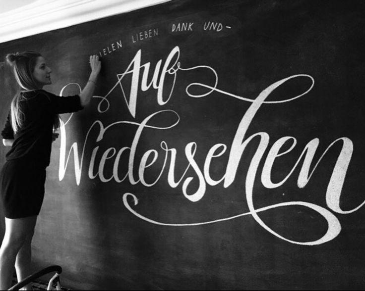 Wall Lettering. Auf Wiedersehen. . . . #chalk #chalkboard #blackboard #lettering #walllettering #wallart #wall #art #artist #style  #design #designer #creative #typography #calligraphy #handwriting #creativity #love #artoftype #betype #bftype #customtype #customlettering #dailytype #typekita #goodtype #greattype #handmadefont #letteringco #tyxca #typism #50words #typegang #typespire #typematters #typographyinspired #thedailytype #typegods #typeoozle #typetopia #slowroastedco #typeyeah