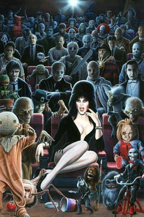 """The """"Horror Crew."""" Very clever.  (maybe not art to some but I thought this was cool..ph)"""