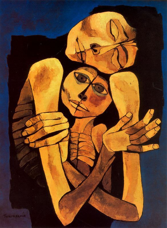 Ternura, 1989Oswaldo Guayasamin - by style - Expressionism
