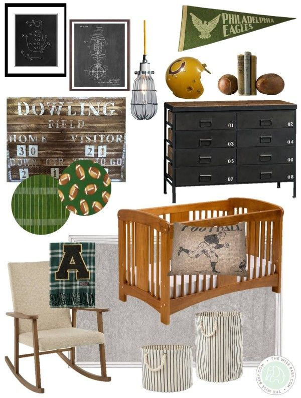 Vintage football nursery, would love this with golf instead for nursery or boy's room