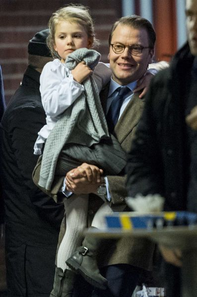 Prince Daniel and Princess Estelle attended the opening of the European Women's Handball Championship