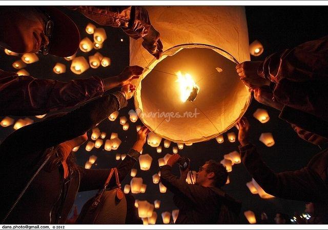 Lâcher de lanternes