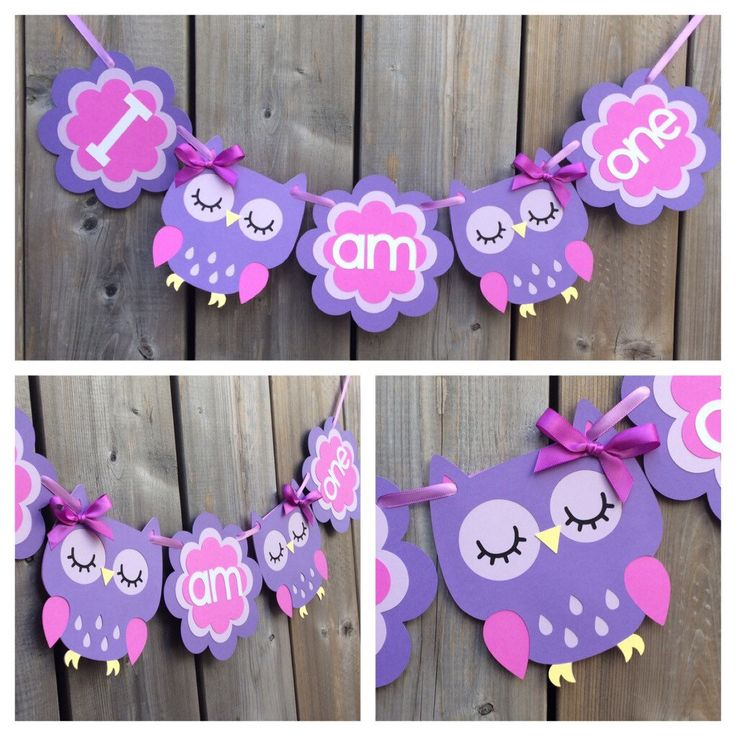 I am one owl banner, owl high chair banner, purple owl cake smash banner, owl mini banner, purple owl banner by lilcraftychickadee on Etsy https://www.etsy.com/ca/listing/477509310/i-am-one-owl-banner-owl-high-chair