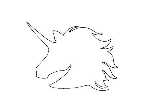 Unicorn Stencil Made from 4 Ply Mat Board by WoodburnsNewEngland