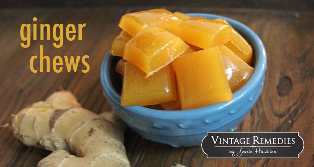 Lemon ginger chews- the perfect remedy for nausea, upset stomach, or morning sickness.