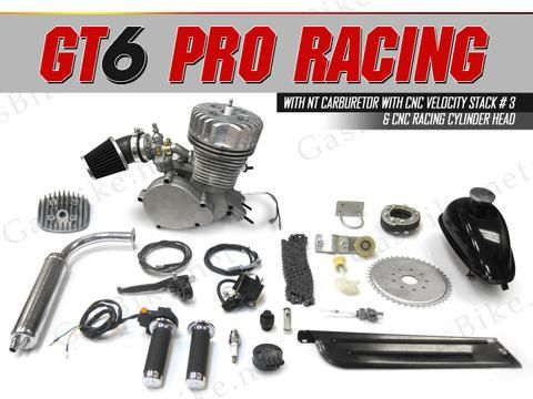 GT6 Pro Racing 66cc/80cc Bicycle Engine Kit Gas Motorized Bicycle