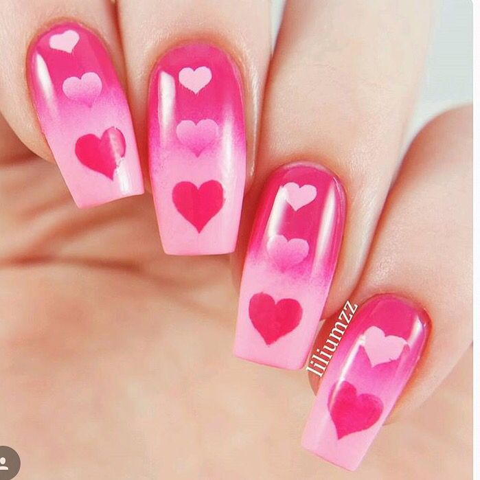 Triple Heart Nail Stencils In 2018 It Community Board Pinterest Nails And