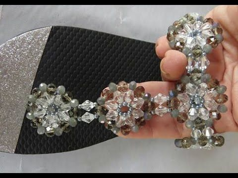 Trama de Pérolas e Cristais Indiana - Pearls & Crystals Chain! - YouTube