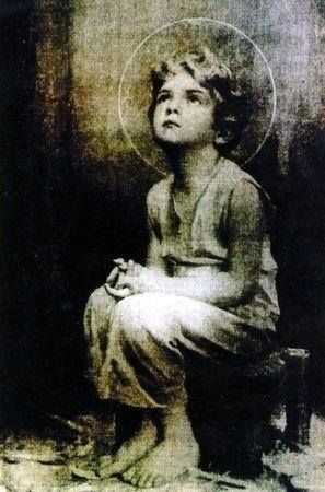 """Miraculous image of the Child Jesus— A monk on the desert is reported to have taken a picture of the Holy Eucharist while exposed. Upon developing the film, this image of the child Jesus appeared. Sometime later, Jesus told this same monk that he would """"""""I promise to send my blessings and my peace to each home where this image is found."""" Look at that sweet face! Jesus I Love You and place my Trust in YOU!"""