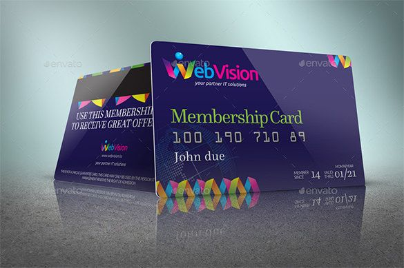 Free Premium Templates Membership Card Create Business Cards Business Cards Online