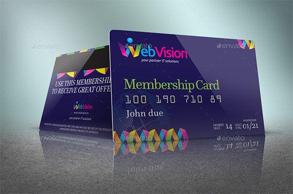 membership card format