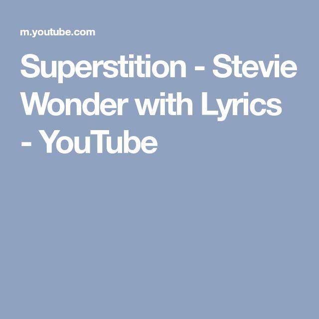 Superstition - Stevie Wonder with Lyrics - YouTube