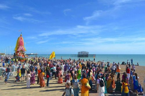Ratha Yatra in Brighton, UK (Album with photos)  Srila Prabhupada: This Krishna…