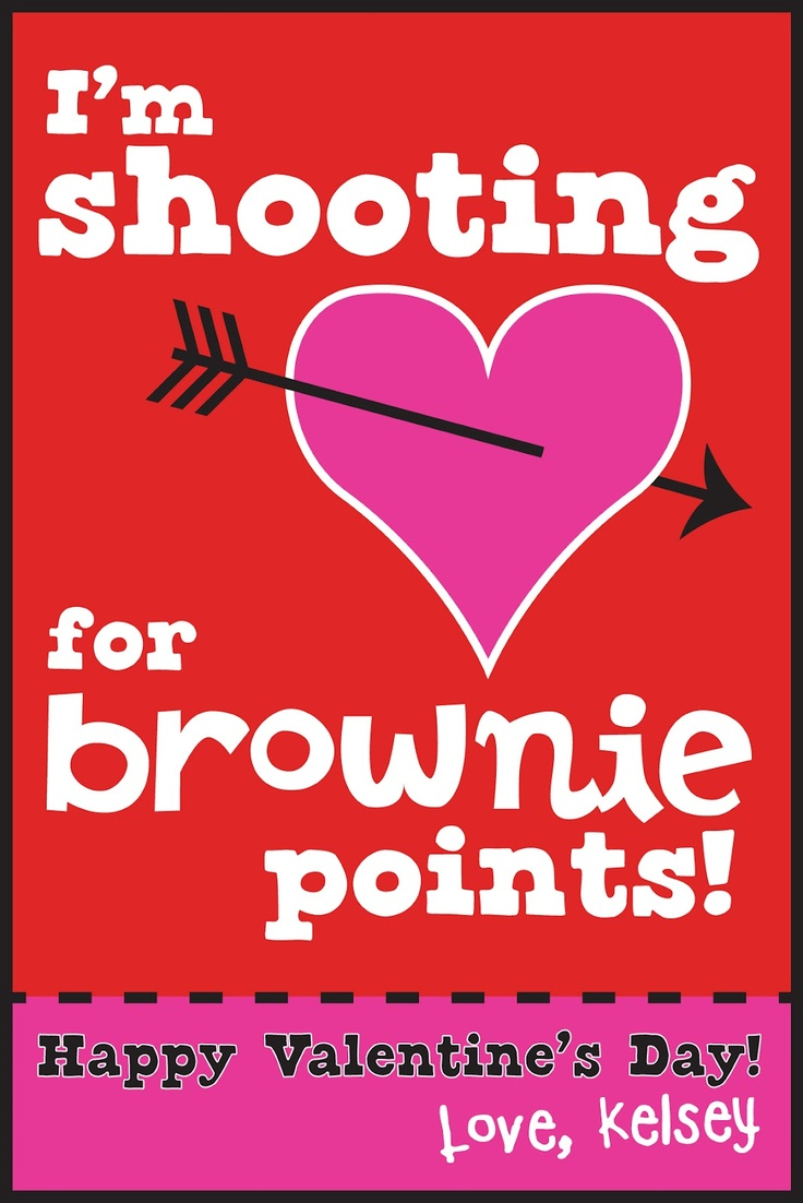 Coop's Corner: Shooting for Brownie Points printable.  Attach to baked or boxed brownies
