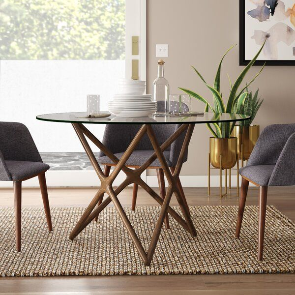 Modern Rustic Interiors Colton Star Dining Table Reviews Wayfair Round Dining Table Modern Glass Round Dining Table Circular Dining Table
