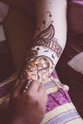 Mehendi Designs - Beautiful Baarat Mehendi Designs for the Bridal Occasion | Radhe Krishna Mehendi Design | WedMeGood #wedmegood #mehendi #design