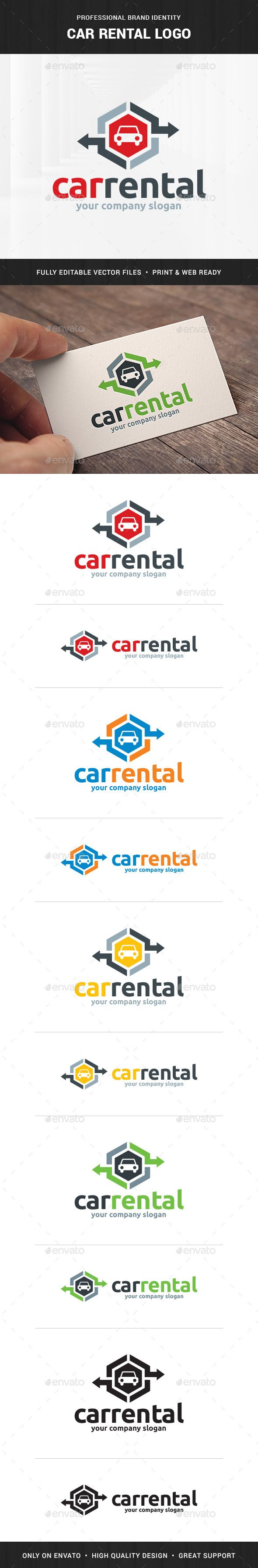 Car Rental Logo Template — Photoshop PSD #rent #PSD logo • Available here → https://graphicriver.net/item/car-rental-logo-template/10337056?ref=pxcr