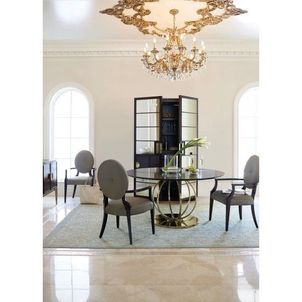 jet set 5 pc round dining group bernhardt star furniture houston - Dining Room Tables Austin