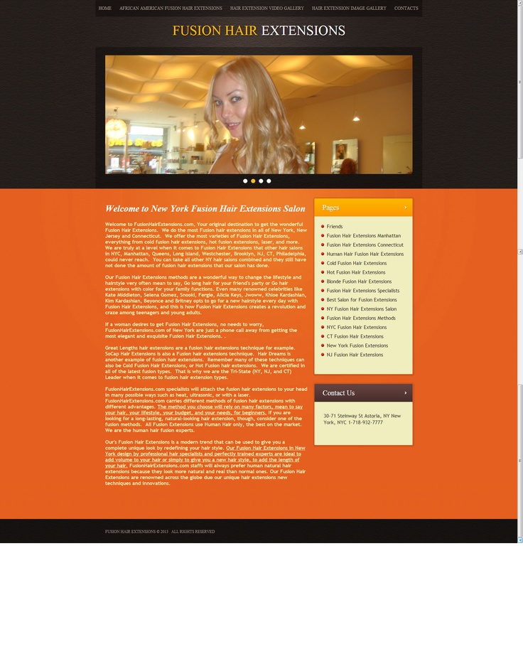 UDeserve Newly created Mobile Responsive Mobile Website... http://www.fusionhairextensions.com
