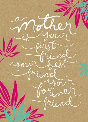 A mother is your first friend, your forever friend. #MothersDay