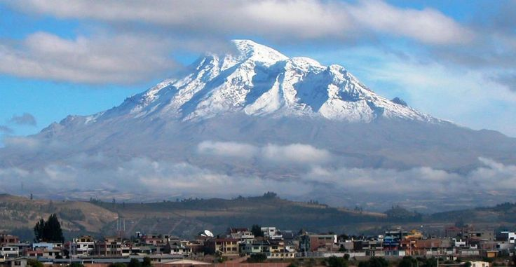 In Riobamba admiring the mighty Chimborazo volcano.  via-www.ecuador.travel
