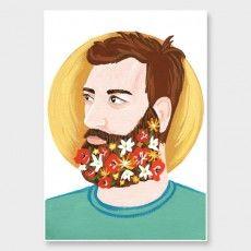 Bearded Sun Art Print by Wild Wagon