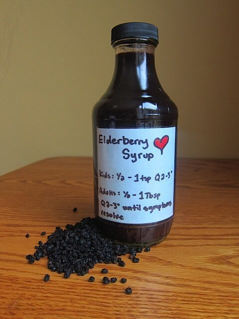 DIY Elderberry Syrup Recipe | Real Food RN 2/3 cup dried elderberries — where to find 3 1/2 cups of water 2 Tbsp fresh or dried ginger root — where to find 1 tsp cinnamon powder 1/2 tsp whole cloves or clove powder — where to find 1 cup raw honey