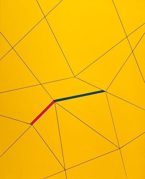 Karina Koziej, Yellow, acrylic on canvas, modern art, abstract art, color painting, young art, polish art