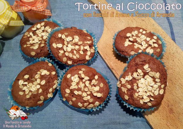 Tortine al Cioccolato con fiocchi di avena e succo di arancia
