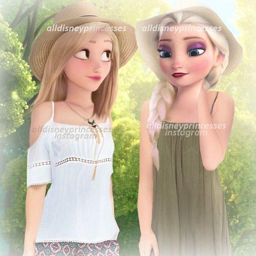 Raiponce et Elsa