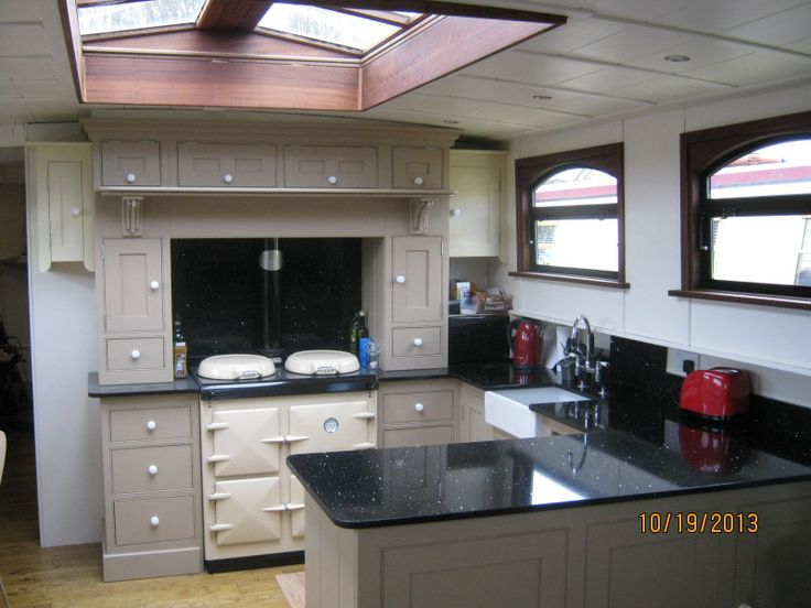 My new white kitchen! On David's boat!